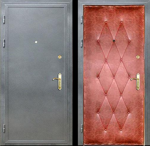 Входная металлическая дверь порошок и винилискожа - усиленная СП013