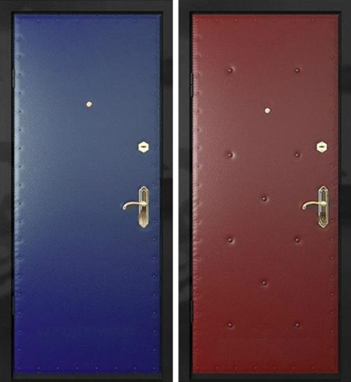 Входная металлическая дверь винилискожа с двух сторон СП287