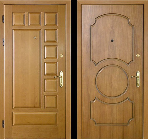 Входная металлическая дверь филенчатая МДФ СП039
