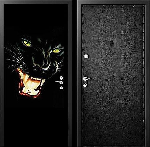 Входная металлическая дверь фотопечать и винилискожа СП323