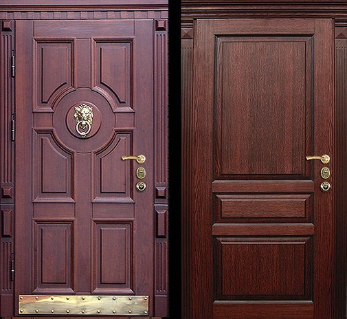 Входная металлическая дверь массив дуба с двух сторон СП317